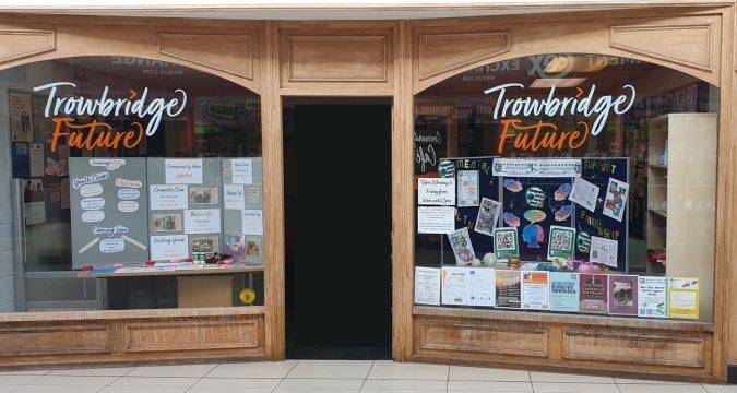 Trowbridge Future window display displaying our information